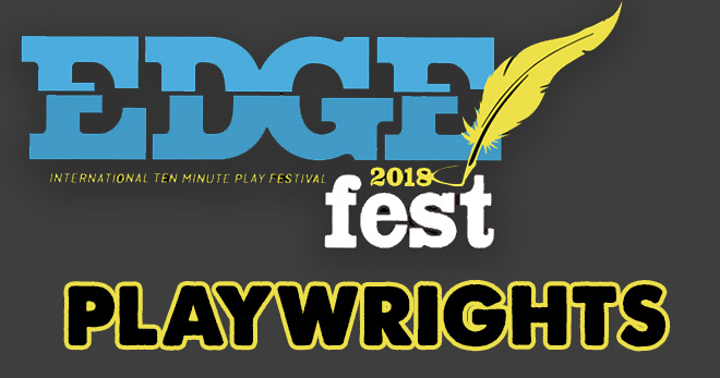 We are thrilled to share the Edge Fest winning playwrights!